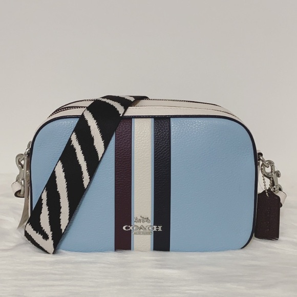 New💃Coach Jes Crossbody In Colorblock With Stripe